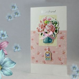 "Handcrafted gift card, ""TO MY FRIEND"", (CD143)"